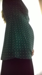 Here's the bump, 19 weeks in the making.