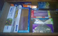 Pantry Wraps and Baggies: All Boxes Neatly Placed in Order of Usage Frequency